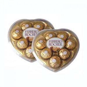 2 Heart Shape Ferrero Chocolates