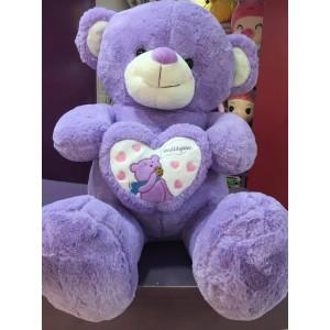 4Ft Violet teddy bear