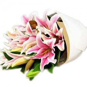 imported stargazer bouquet