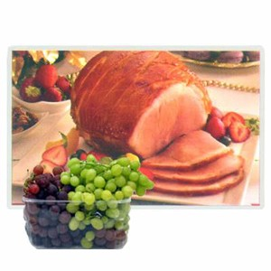 Christmas Ham with Grapes