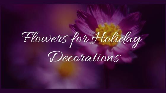 Flowers for Holiday Decorations