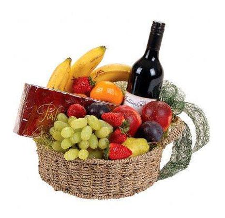 fruits & wine basket