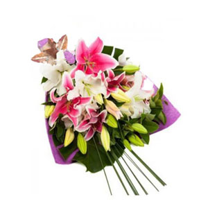 Lilies and Casa Blanca Bouquet