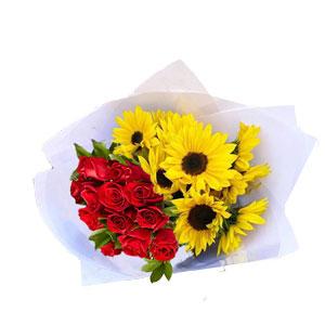redrosessunflower